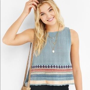 Urban Outfitters Ecote Apron Embroidered Tank SM